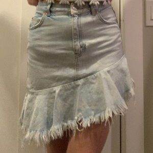 Top shop Moro denim skirt
